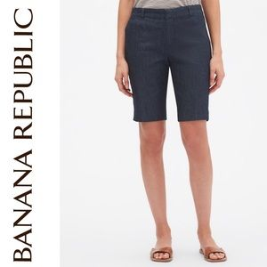 Banana Republic Tailored Chambray Bermuda Shorts